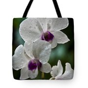 Whte Orchids Tote Bag