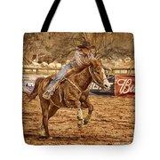 Wickenburg Senior Pro Rodeo Barrel Racing Tote Bag