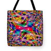 Wicker Marble Rainbow Fractal Tote Bag