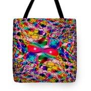 Wicker Marble Rainbow Fractal Tote Bag