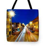 Wicker Park Light Trails Tote Bag