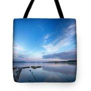 Wide Angled Sunset Over Moosehead Lake Tote Bag