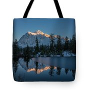 Wide Shuksans Last Light Reflected Tote Bag