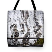 Wide Waterfal Joining The Sea Tote Bag
