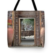 Wider Shot Stone Garden Wall And Clay Urns Tote Bag