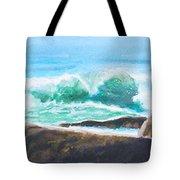 Widescreen Wave Tote Bag