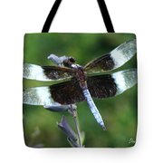 Widow Skimmer Dragonfly Tote Bag