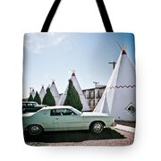 Wigwam Motel Classic Car #3 Tote Bag