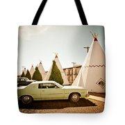 Wigwam Motel Classic Car #4 Tote Bag