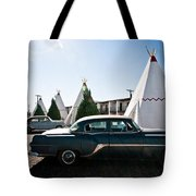 Wigwam Motel Classic Car #5 Tote Bag