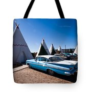 Wigwam Motel Classic Car #6 Tote Bag