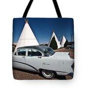 Wigwam Motel Classic Car Tote Bag