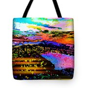 Wild And Crazy Mountainous Sunset Tote Bag