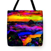 Wild And Crazy Shoreline Dusk Tote Bag