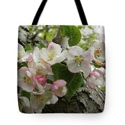 Wild Apple Blossoms Tote Bag
