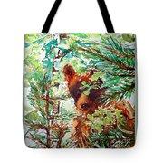 Wild Bear Peek-a-boo Watercolour Tote Bag