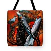 Wild Birds Tote Bag by Carol Cavalaris