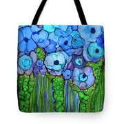 Wild Blue Poppies Tote Bag