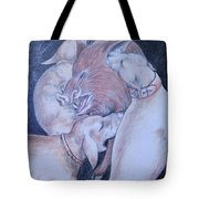 Wild Boar And Dogs Tote Bag