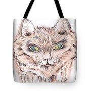 Wild- Brown Hair Cat Tote Bag