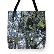 Wild Cherry Tree Blossoms On Verona Tote Bag