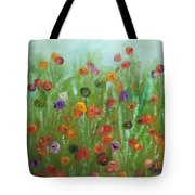 Wild Flowers Abstract Tote Bag