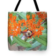 Wild Flowers And Bumble Bees Tote Bag