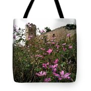 Wild Flowers At The Old Fortress Tote Bag