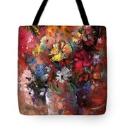 Wild Flowers Bouquet In A Terracota Vase Tote Bag