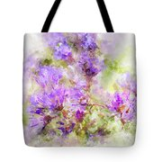 Wild Flowers In The Fall Watercolor Tote Bag by Michael Colgate