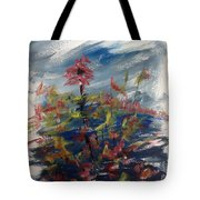 Wild Flowers On An Overcast  Day Tote Bag