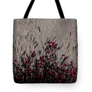 Wild Flowers On The Wall Tote Bag