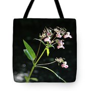 Wild Flowers Over Stream Tote Bag