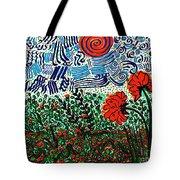 Wild Flowers Under Wild Sky Tote Bag