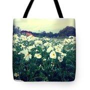Wild Flowers White Tote Bag