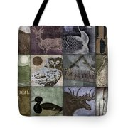 Wild Game Patchwork II Tote Bag