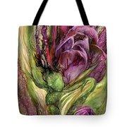 Wild Garden Tulips Tote Bag