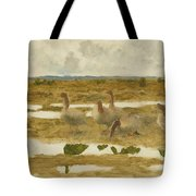 Wild Geese In The Marsh Tote Bag