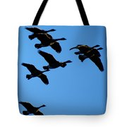 Wild Geese In The West Tote Bag