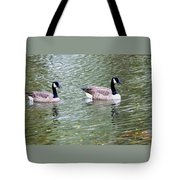 Wild Geese On A Lake 6 Tote Bag