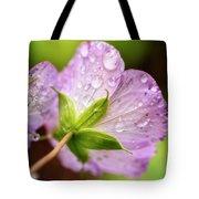 Wild Geranium After The Rain Tote Bag