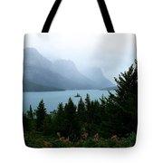 Wild Goose Island In The Rain Tote Bag