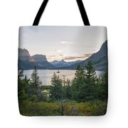 Wild Goose Island Sunset - Glacier National Park Montana Tote Bag