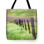 Wild Grain A Fence And Owls Clover Tote Bag