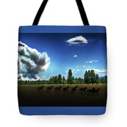 Wild Horse Fire Tote Bag