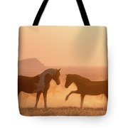 Wild Horse Glow Tote Bag by Wesley Aston