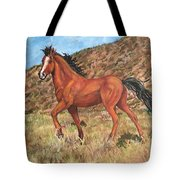 Wild Horse In Virginia City, Nevada Tote Bag