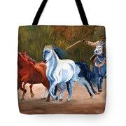 Wild Horse Roundup Tote Bag