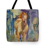 Wild Horses Tote Bag by Gretchen Bjornson