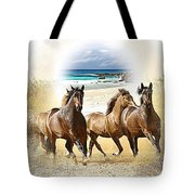Wild Horses On The Beach Tote Bag